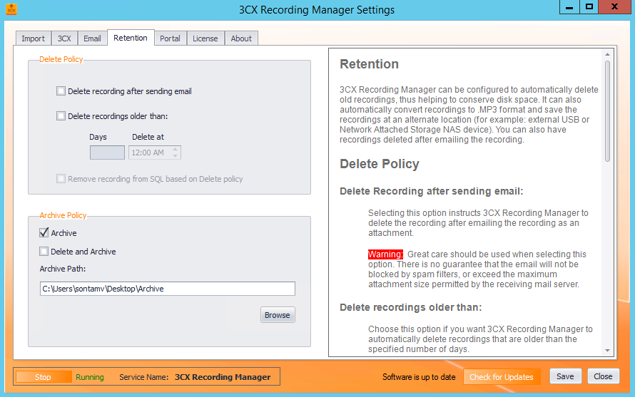 3CX Recording Manager User Guide « VoipTools